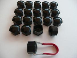 Black wielmoerdoppen 17 mm.model 2014