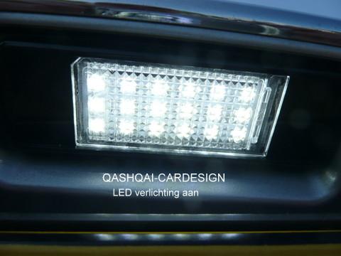 Led Kentekenverlichting Qashqai Cardesign Nl
