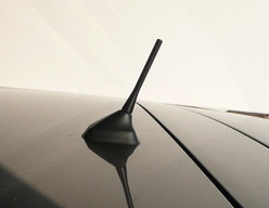 Black satijn antenne 90mm