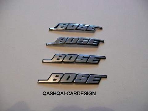 Bose Emblemen 53x8 Mm Voor Speaker Roosters Qashqai Cardesign